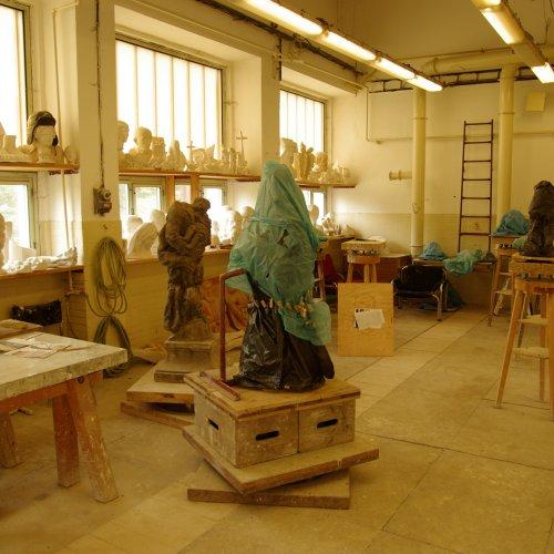 Zázemí Kamenosochařského střediska Lipnice