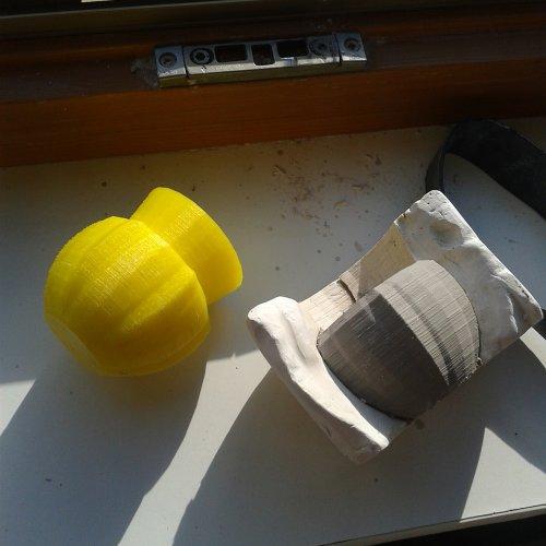 3D výtisk je používan pro vytvoření formy