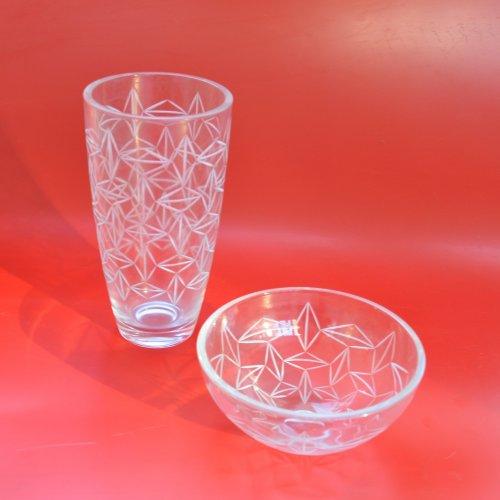 BOMMA - Eliška Bráchová, broušené sklo,12 x 25 x 25 cm a 30 x 15 x 15 cm, pod vedením MgA. Aleše Jírovce