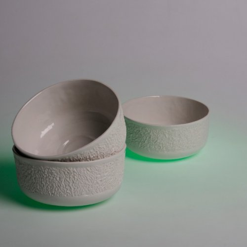 SNÍDANĚ – Tereza Krupičková, porcelán,7 x 7 x 13 cm, pod vedením MgA. Michaela Franče