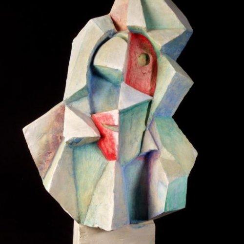 Krystalizace - DARINA ONDRÁČKOVÁ, kolorovaná sádra, výška 42 cm