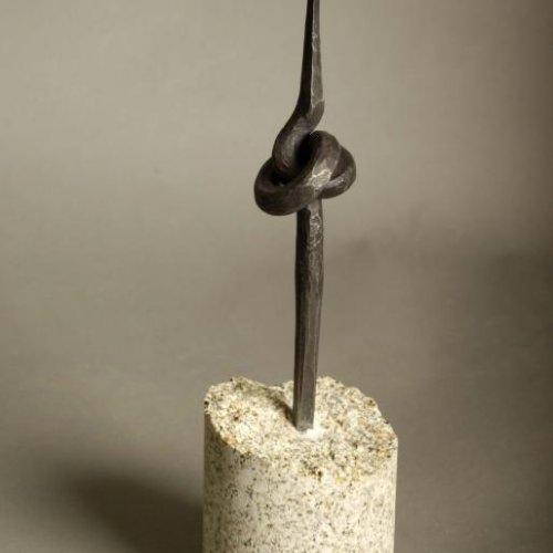 Svícen - STUDENTSKÁ PRÁCE, kov, výška 45 cm