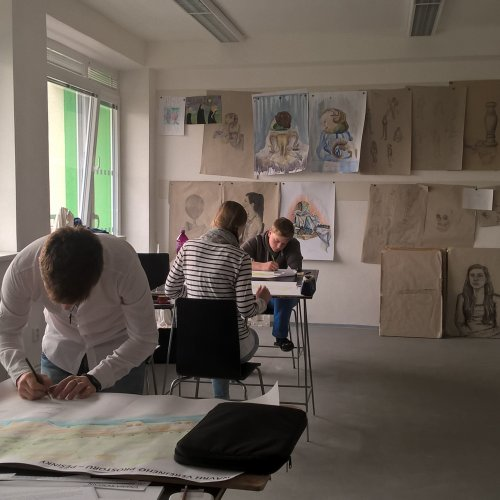 Práce studentů v ateliéru