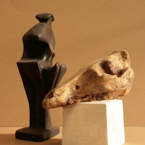KOMPOZICE - Otto Jiráň, sádra, 30 cm, pod vedením akad. soch. Sylvie Choisnel