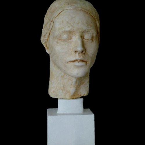 PORTRÉT - Barbara Klauszová, sádra, 30 cm, pod vedením akad. soch. Sylvie Choisnel