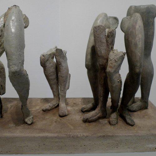 LE DÉCLIN - ROZPAD – akad. soch. Sylvie Choisnel, cement