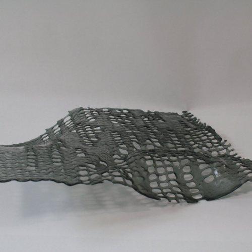 ŽIVÉ STRUKTURY, MgA. Anna Musilová, lehané sklo, cca 40 x 50 cm