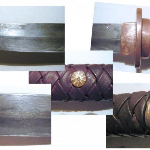 Meč tantó, detaily - akad. soch. JAN TOMEŠEK, svářková ocel