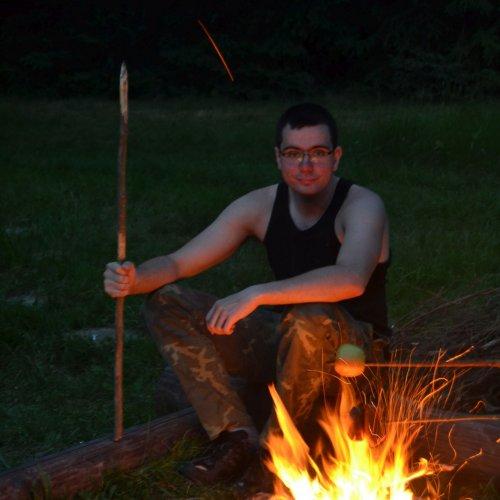 Martin coby strážce ohně.