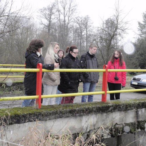 Takhle nešťastně jsme sledovali zregulovaný potok jihovýchodně od Budíkova.