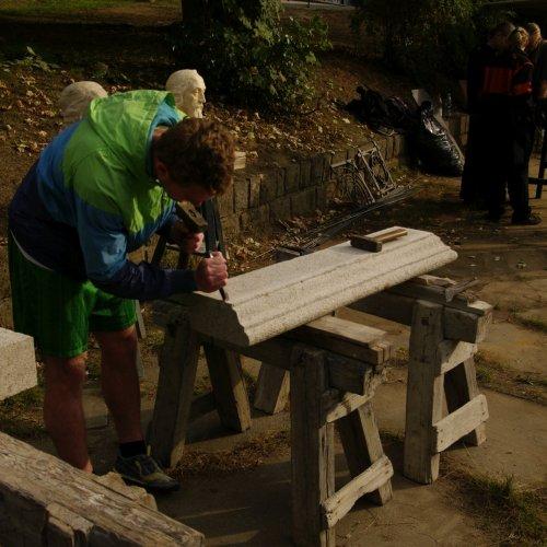 Ukázka zpracování kamenného soklu
