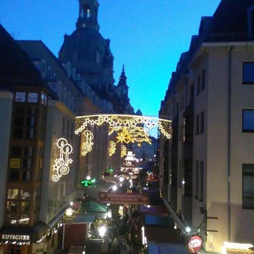 Frauenkirche v podvečer