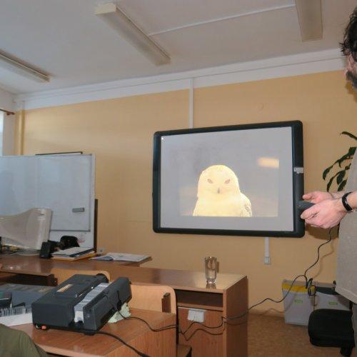 """Na """"přetřes"""" hned v úvodu přišla i poštovní sova Harryho Pottera - sovice sněžní, byť se ve volné přírodě ČR nevyskytuje."""
