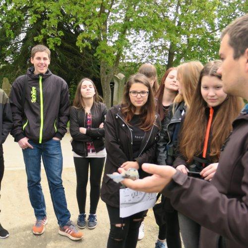 Žáci I.G si během kroužkování zopakovali jednotlivé ptačí druhy okolní přírody.