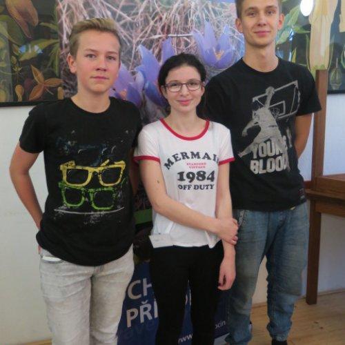 Naše trojice - zleva Tomáš Král, Růžena Velíšková a Ondřej Kulhánek - je bohatší o mnoho nových poznatků, zážitků, zkušeností i kamarádů..