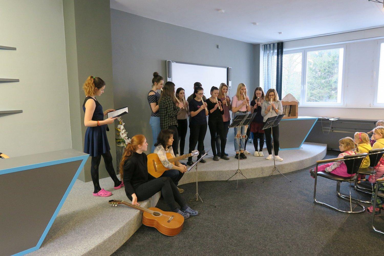 Hudební hádanku flétnového souboru zvládly děti bravurně. MŠ Sídliště– 24.1.2018