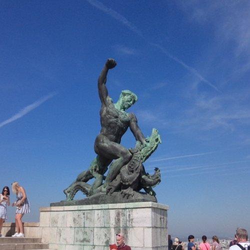 Budapešť Gellértův vrch - Socha svobody