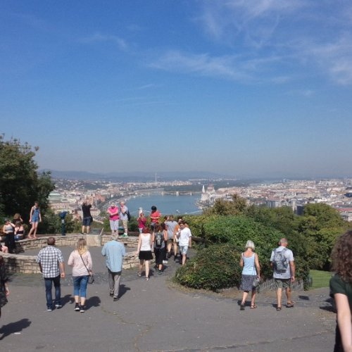 Budapešť Gellértův vrch - vyhlídka