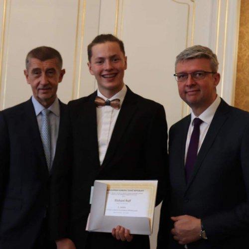 slavnostní předání diplomu Richardu Rulfovi