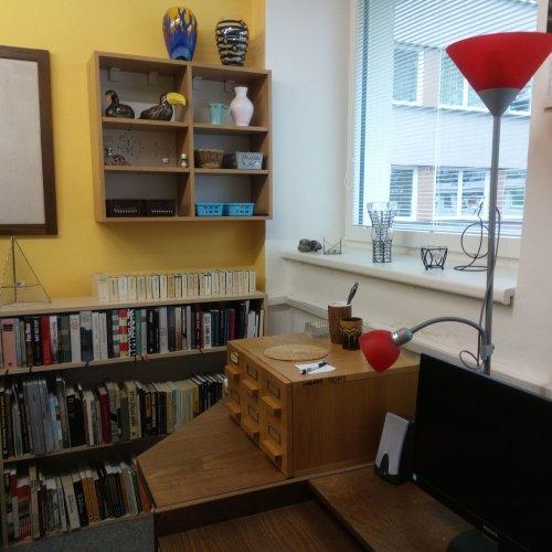 Pracovní prostor knihovníka
