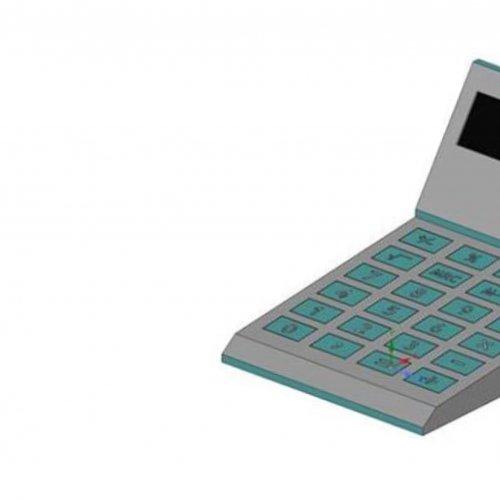 model kalkulačky SPEEDER v 3D programu