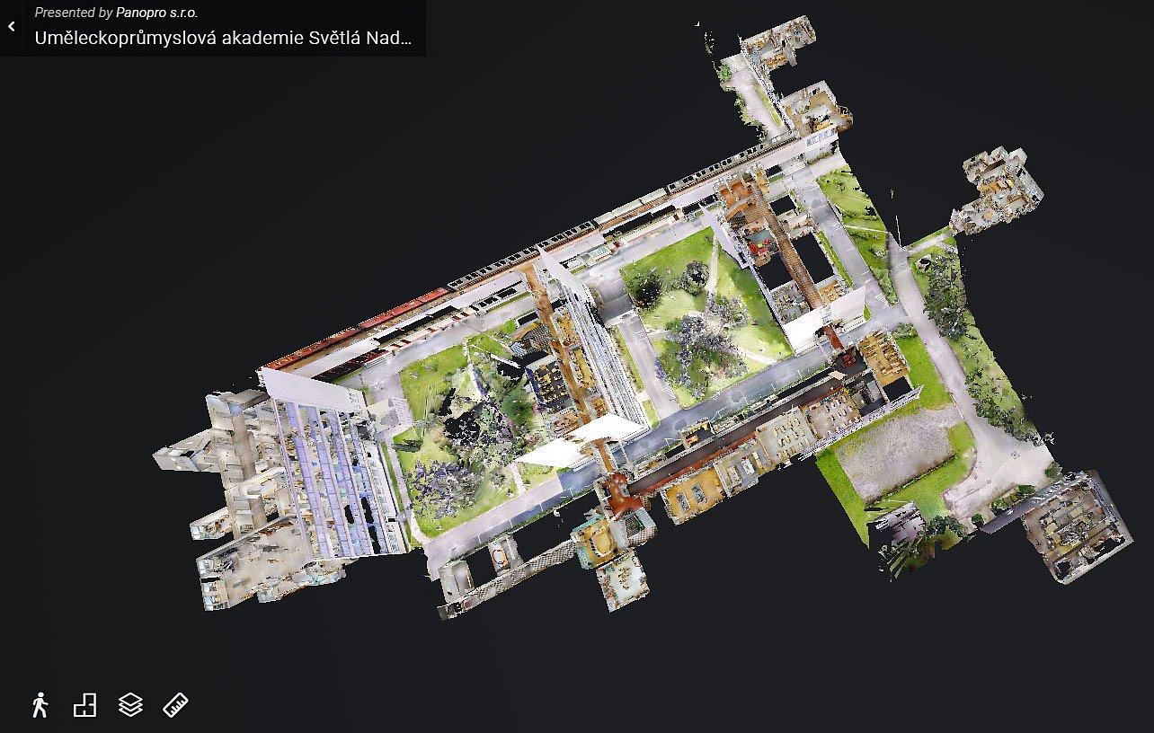 nový panoramatický model školy