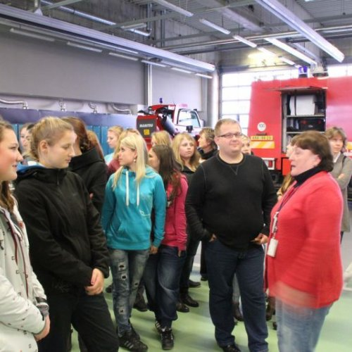 Součástí exkurze byla také návštěva Záchranné požární stanice.