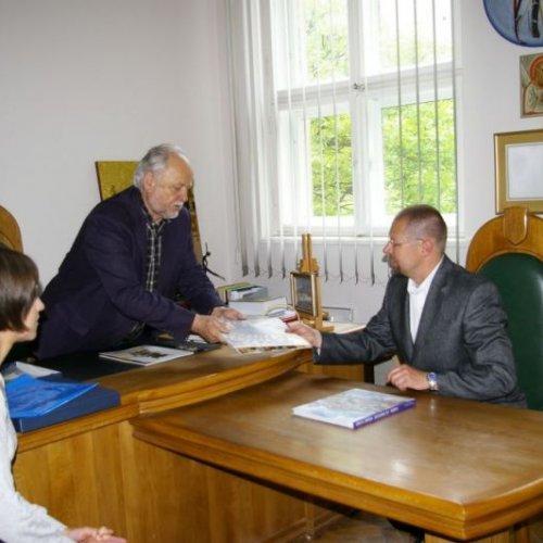 Přijetí rektorem Akademie výtvarných umění, kterým je Andryi Bokotey