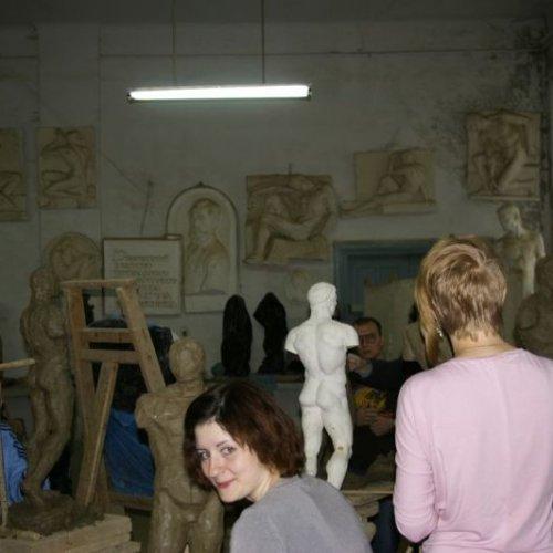 Návštěva v ateliéru soch a plastiky