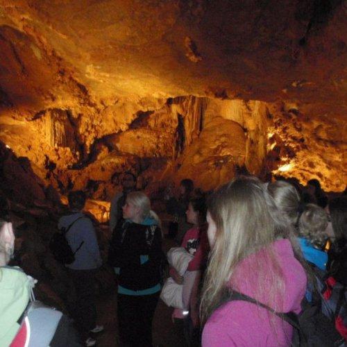 Hodinová procházka podzemím byla nezapomenutelným zážitkem.