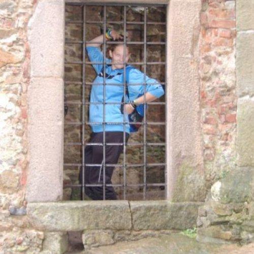 Aničce se za mřížemi líbilo, dokonce izapózovala.