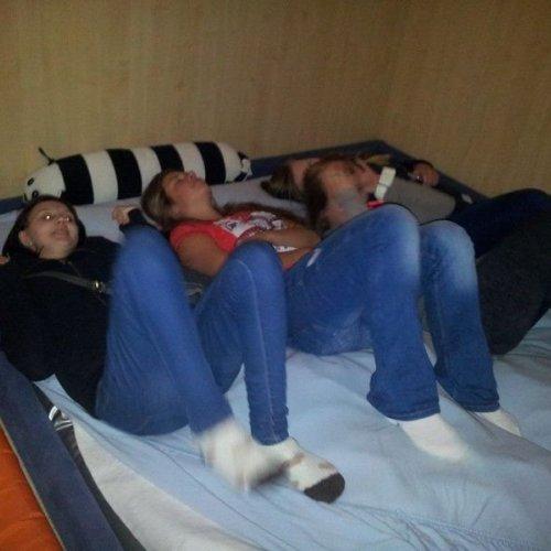 Žákyně vyzkoušely vodní postel