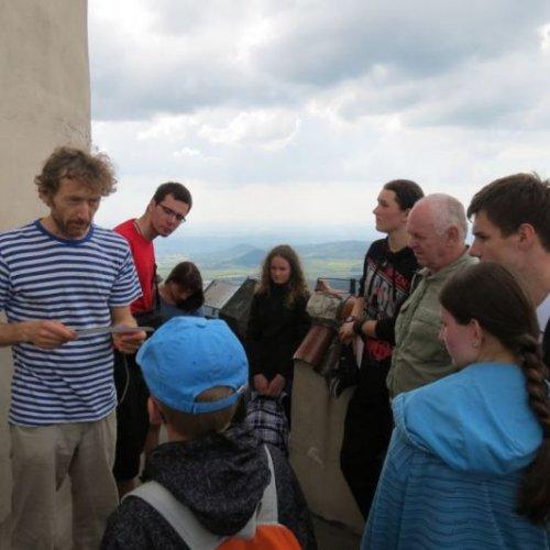 Výklad o používané technice na věži observatoře