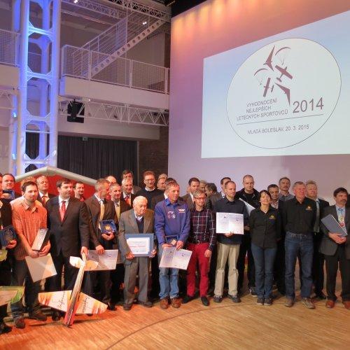 Ocenění letečtí sportovci za rok 2014